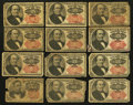 Fractional Currency:Fifth Issue, A Dozen of Fifth Issue Fractionals.. ... (Total: 12 notes)