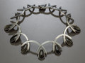 Silver Smalls:Other , AN ANTONIA PINEDA MEXICAN SILVER AND OBSIDIAN NECKLACE. AntonioPineda, Taxco, Mexico, circa 1950. Marks: (Antonio crown), ...