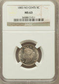 Liberty Nickels: , 1883 5C No Cents MS63 NGC. NGC Census: (1042/4622). PCGS Population(1540/4919). Mintage: 5,479,519. Numismedia Wsl. Price ...
