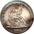 Proof Seated Half Dollars, 1872 50C PR64 Cameo PCGS. CAC....