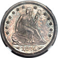 Proof Seated Quarters, 1874 25C Arrows PR64 NGC....