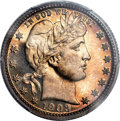 Proof Barber Quarters, 1903 25C PR66 Cameo PCGS. CAC....