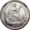 Seated Half Dimes, 1867 H10C MS66 ★ NGC....
