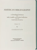 Books:Books about Books, [Books About Books]. Charles Evans. American Bibliography.Vol. 1-13 Complete in Single Volume. Miniprint editio...