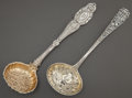 Silver & Vertu:Flatware, TWO ENGLISH SILVER AND SILVER GILT LADLES . Various makers, London, England, circa 1831-1855. Marks: (lion passant), (leopar... (Total: 2 )
