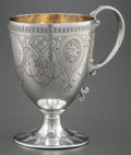 Silver Holloware, British:Holloware, A SAMUEL SMITH VICTORIAN SILVER FOOTED CUP . Samuel Smith, London,England, circa 1893-1894. Marks: (lion passant), (leopard...