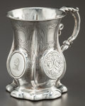 Silver Holloware, British:Holloware, AN ENGLISH SILVER CUP . Maker unknown, Birmingham, England, circa1857-1858. Marks: (effaced marks), (anchor), I. 3 inch...