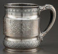 Silver Holloware, American:Cups, A WHITING SILVER CUP . Whiting Manufacturing Company, New York, NewYork, circa 1885. Marks: (W with griffin), STERLING, 3...