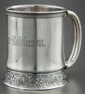 Silver Holloware, American:Cups, A GORHAM SILVER CUP . Gorham Manufacturing Co., Providence, RhodeIsland, circa 1874. Marks: (lion-anchor-G), STERLING, G,...
