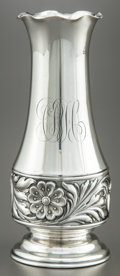 Silver Holloware, American:Vases, A GEORGE W. SHIEBLER & CO. SILVER BUD VASE . George W. Shiebler& Co., New York, New York, circa 1890. Marks: (winged S),...