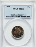 Proof Liberty Nickels: , 1909 5C PR66 PCGS. PCGS Population (204/35). NGC Census: (263/88).Mintage: 4,763. Numismedia Wsl. Price for problem free N...