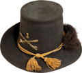 Militaria:Uniforms, US M1858 Cavalry Enlisted Man's Dress Hardee Hat. ...