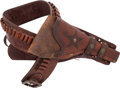 Arms Accessories, Unmarked Western Cartridge Money Belt and Associated Commercial Double-Loop Holster Ensemble. ...