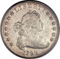 Early Dollars, 1799 $1 7x6 Stars -- Cleaning -- PCGS Genuine. AU Details. B-7,BB-156, R.4....