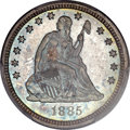 Proof Seated Quarters, 1885 25C PR66 PCGS. CAC....