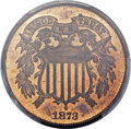 Proof Two Cent Pieces, 1873 2C Closed 3 PR65 Red and Brown PCGS....