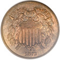 Two Cent Pieces, 1872 2C MS63 Brown PCGS. CAC....