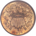 Two Cent Pieces, 1864 2C Small Motto MS64 Red and Brown NGC. CAC. FS-401....