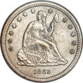 Seated Quarters, 1862-S 25C MS62 NGC....