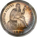 Proof Seated Dimes, 1889 10C PR67 Cameo NGC. CAC....