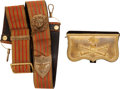 Military & Patriotic:Civil War, Napoleonic Officer's Dress Cartridge Box and U.S. Civil War Sling and Baldric Device....
