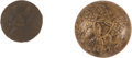 Militaria:Uniforms, Buttons: Two Regiment of Voltigeurs and Foot Riflemen Buttons.... (Total: 2 Items)