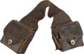 Military & Patriotic:Indian Wars, Saddle Bags Used by a Tennessee Doctor For His Medical Equipment, Circa 1870-1875....