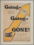 "Military & Patriotic:WWI, Rare WWI Signal Corp Aviation Recruiting Poster ""Going-Going-Gone!""Circa 1917...."