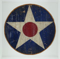 Military & Patriotic:WWI, Section of Aircraft Fabric With the U.S. National Insignia, Circa 1919-1941....