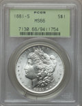 Morgan Dollars: , 1881-S $1 MS66 PCGS. PCGS Population (12137/1734). NGC Census:(15997/4152). Mintage: 12,760,000. Numismedia Wsl. Price for...