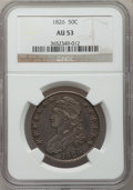 Bust Half Dollars: , 1826 50C AU53 NGC. NGC Census: (110/978). PCGS Population(138/876). Mintage: 4,000,000. Numismedia Wsl. Price for problem...