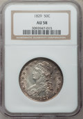 Bust Half Dollars: , 1829 50C Small Letters AU58 NGC. NGC Census: (227/276). PCGSPopulation (181/237). Mintage: 3,712,156. Numismedia Wsl. Pric...