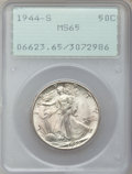 Walking Liberty Half Dollars: , 1944-S 50C MS65 PCGS. PCGS Population (2559/422). NGC Census:(1234/198). Mintage: 8,904,000. Numismedia Wsl. Price for pro...