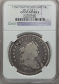Early Dollars, 1798 $1 Large Eagle, Pointed 9, B-11, BB-111, R.3 -- Damaged -- NGCDetails. Good. PCGS Population (0/5)...