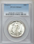 Walking Liberty Half Dollars: , 1945-S 50C MS66+ PCGS. PCGS Population (917/13). NGC Census:(614/25). Mintage: 10,156,000. Numismedia Wsl. Price for probl...