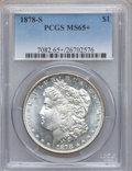 Morgan Dollars: , 1878-S $1 MS65+ PCGS. PCGS Population (3626/612). NGC Census:(3962/507). Mintage: 9,774,000. Numismedia Wsl. Price for pro...