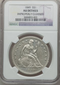 Seated Dollars: , 1849 $1 -- Improperly Cleaned -- NGC Details. AU. NGC Census:(17/194). PCGS Population (35/185). Mintage: 62,600. Numismed...