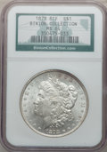 Morgan Dollars: , 1878 8TF $1 MS64 NGC. Ex: Binion Collection. NGC Census:(1972/379). PCGS Population (2409/533). Mintage: 699,300.Numismed...