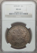 Morgan Dollars: , 1878 8TF $1 MS64 NGC. NGC Census: (1972/379). PCGS Population(2409/533). Mintage: 699,300. Numismedia Wsl. Price for probl...