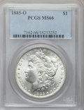 Morgan Dollars: , 1885-O $1 MS66 PCGS. PCGS Population (2273/190). NGC Census: (4357/530). Mintage: 9,185,000. Numismedia Wsl. Price for prob...