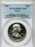 Proof Franklin Half Dollars: , 1956 50C Type One PR67 Cameo PCGS. PCGS Population (66/31). NGCCensus: (875/787). Numismedia Wsl. Price for problem free ...