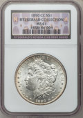 Morgan Dollars, 1890-CC $1 MS61 NGC. Ex: Fitzgerald Collection, Fitzgerald's NevadaClub Reno Hoard. NGC Census: (487/3989). PCGS Populatio...