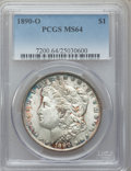 Morgan Dollars: , 1890-O $1 MS64 PCGS. PCGS Population (3333/482). NGC Census:(2741/190). Mintage: 10,701,000. Numismedia Wsl. Price for pro...