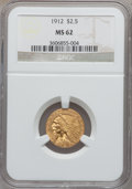 Indian Quarter Eagles: , 1912 $2 1/2 MS62 NGC. NGC Census: (2489/1762). PCGS Population(1077/1312). Mintage: 616,000. Numismedia Wsl. Price for pro...