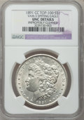 Morgan Dollars, 1891-CC $1 Vam-3 Spitting Eagle -- Improperly Cleaned -- NGCDetails. Unc. Top-100. PCGS Population (0/2...