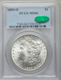 Morgan Dollars: , 1899-O $1 MS66 PCGS. CAC. PCGS Population (1209/93). NGC Census:(1071/108). Mintage: 12,290,000. Numismedia Wsl. Price for...
