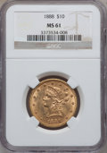 Liberty Eagles: , 1888 $10 MS61 NGC. NGC Census: (128/40). PCGS Population (39/52).Mintage: 132,996. Numismedia Wsl. Price for problem free ...