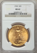 Saint-Gaudens Double Eagles: , 1928 $20 MS62 NGC. NGC Census: (9103/36133). PCGS Population(7465/37848). Mintage: 8,816,000. Numismedia Wsl. Price for pr...