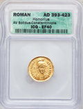 Ancients:Roman Imperial, Ancients: ROMAN EMPIRE. Honorius (AD 393-423). AV solidus....