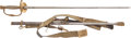Edged Weapons:Swords, Named U.S. Model 1860 Staff and Field Officers' Sword and Dress Belt.... (Total: 2 Items)